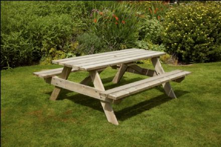 Anchor Fast Devon Picnic Bench - 1.8m Pressure Treated